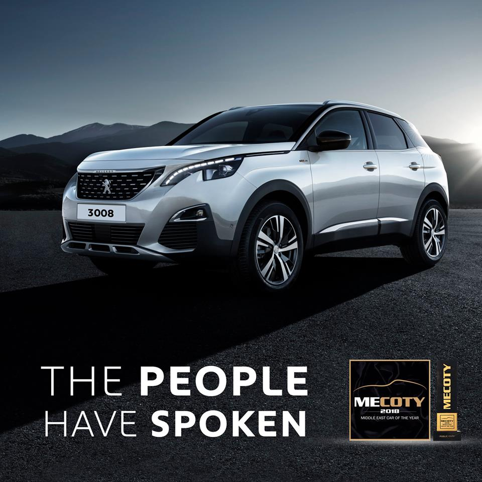 New Peugeot 3008 named Public Car of the Year 2018