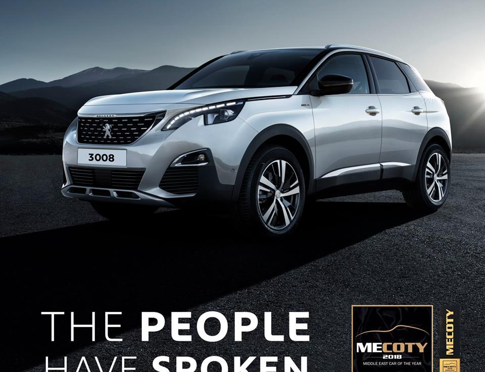 New Peugeot 3008 named Public Car of the Year2018