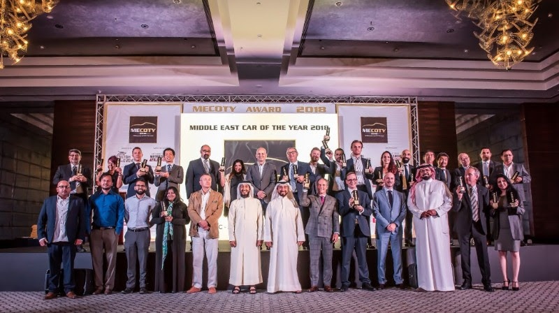 BEST CARS OF THE REGION AWARDED AT 5th MIDDLE EAST CAR OF THE YEAR AWARDS (MECOTY) 2018