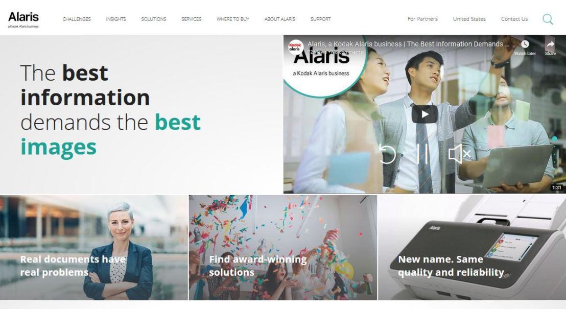 Kodak Alaris Information Management Division Changes Name toAlaris