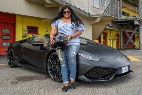Shereen Shabnam Lamborghini Italy